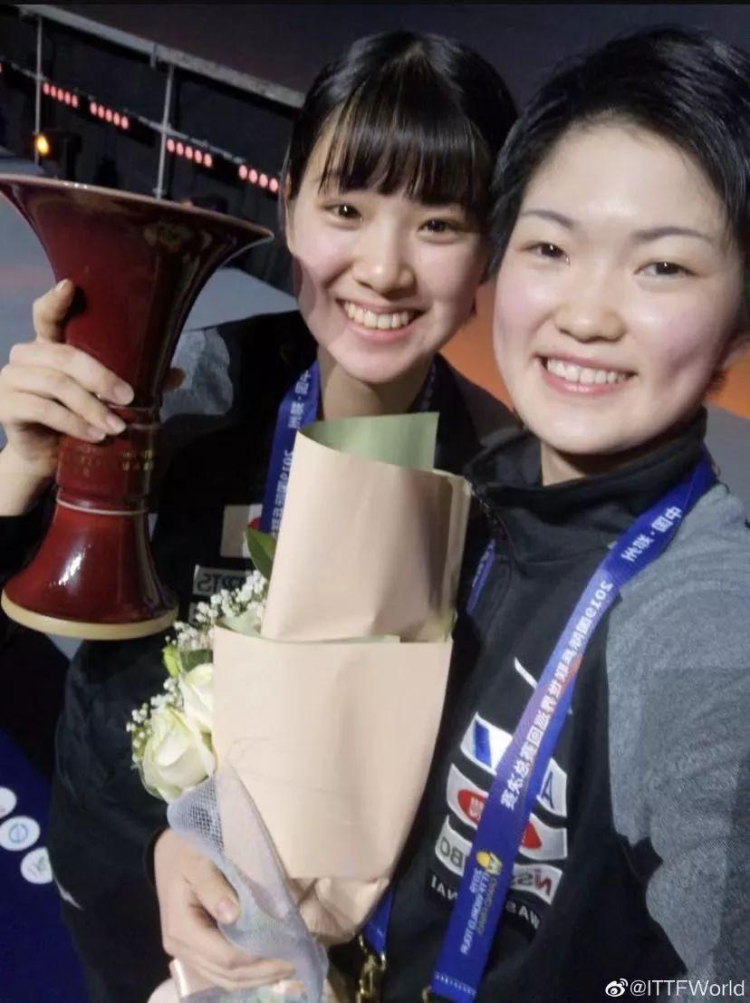 日本队蝉联女双冠军,这对搭档会是明天的伊藤、平野吗?-乒乓国球汇
