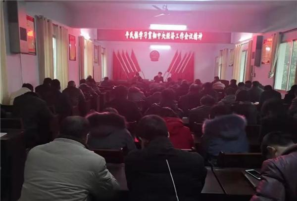 桐柏县平氏镇集中学习中央经济工作会议精神 助推工作向纵深发展