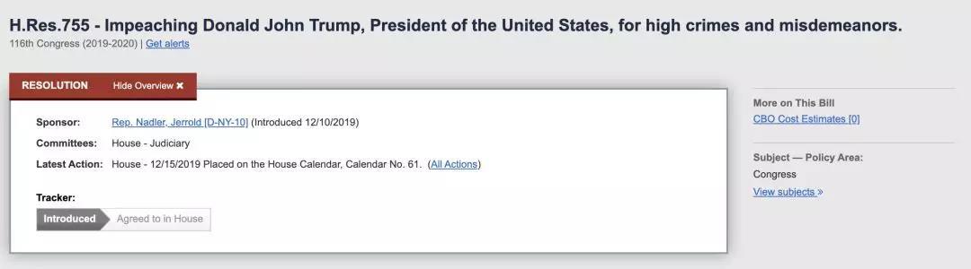 """特朗普将加入被弹劾总统""""俱乐部""""?五图看懂他们的区别_众议院"""