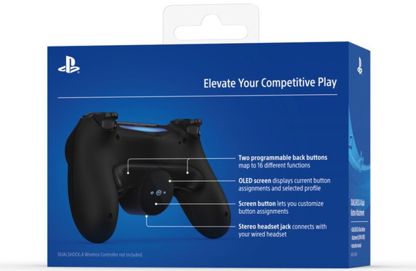 索尼推出PS4手柄新配件 增加两个可定制按钮和触屏