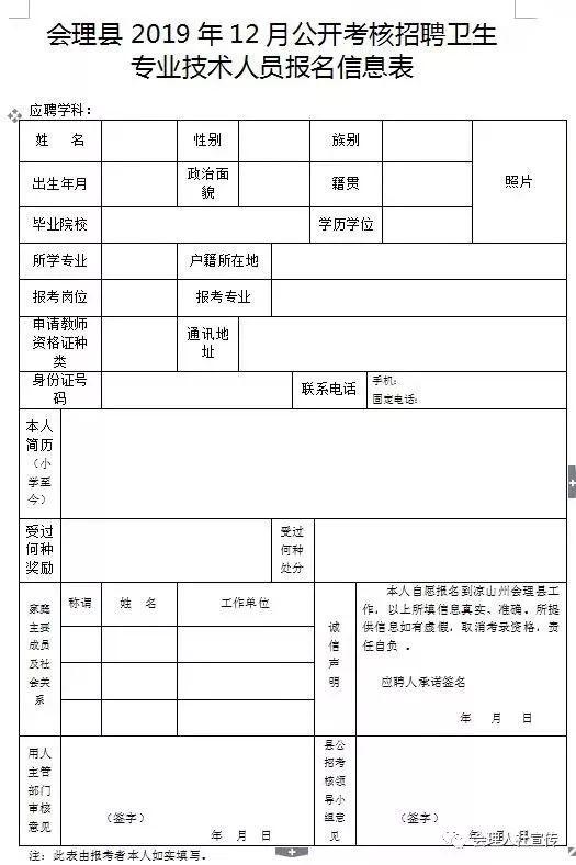 【考核聘用】2019年公开考核聘用卫生专业技术人员公告