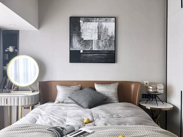115平方现代简约装修实景图之卧室