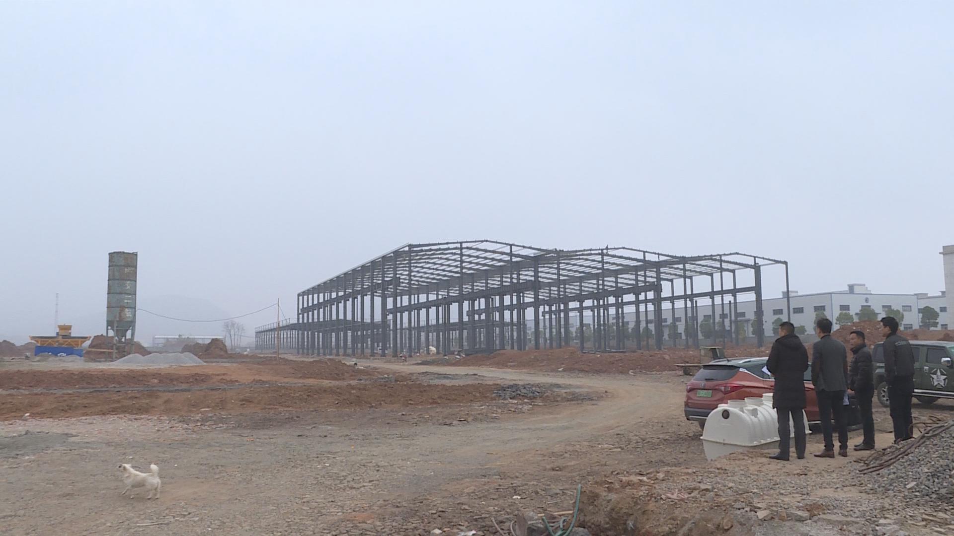 阳新县委督查室、县政府督办室督办检查县经济开发区重点项目建设