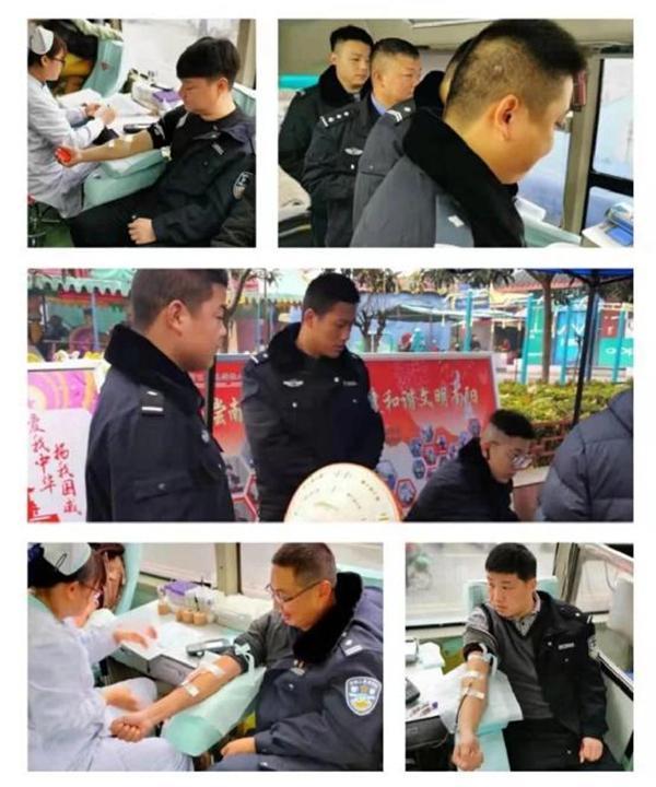 人民警察为人民 社旗县公安民警无偿献血现真情