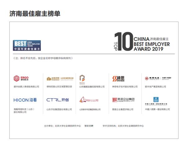 智联招聘2019年度最佳雇主济南10强出炉