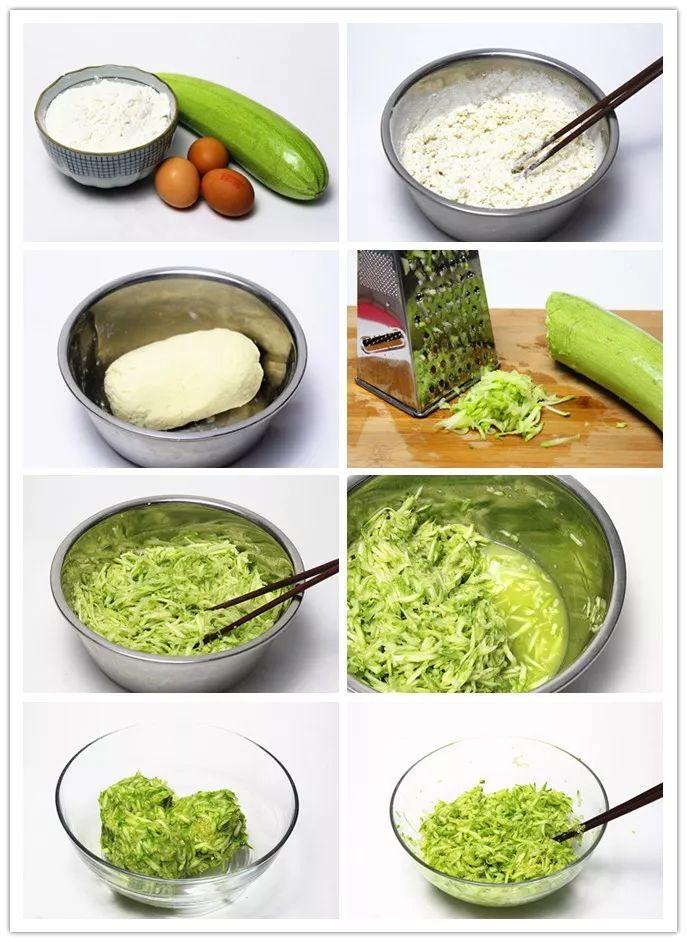 第六步:如图,腌好的西葫芦丝中会出很多汤汁.