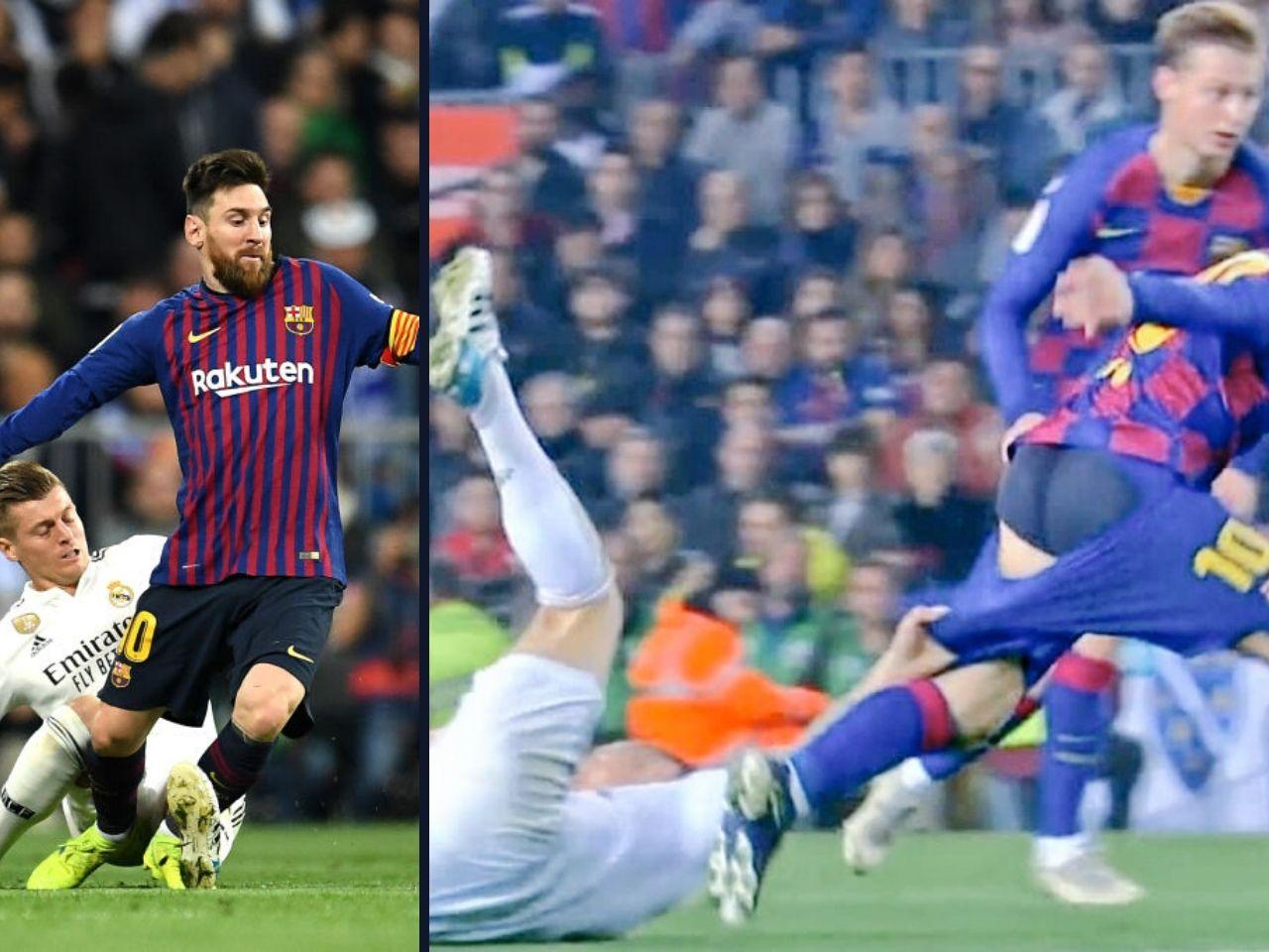 原创             西班牙国家德比:克罗斯拉下梅西的球裤,引网友热议