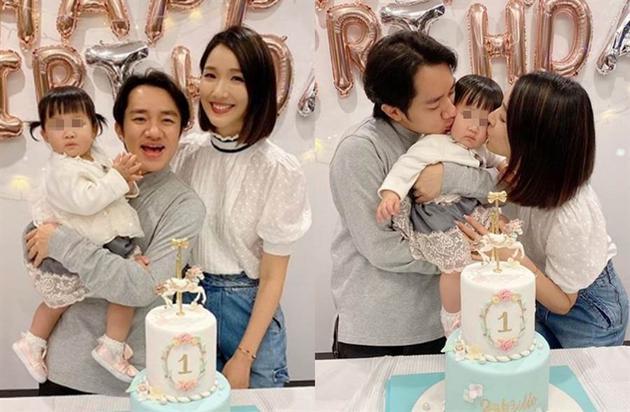 王祖蓝李亚男爱女周岁照公开 更像妈妈粉丝松口气