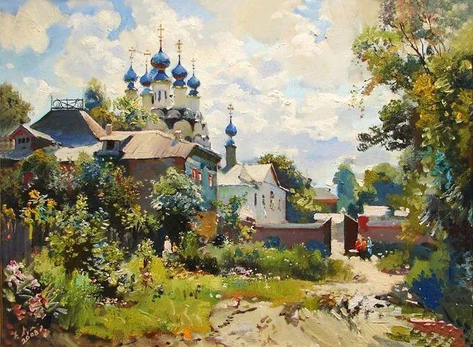 乌克兰画家卢卡斯·阿纳托尼水彩作品赏析