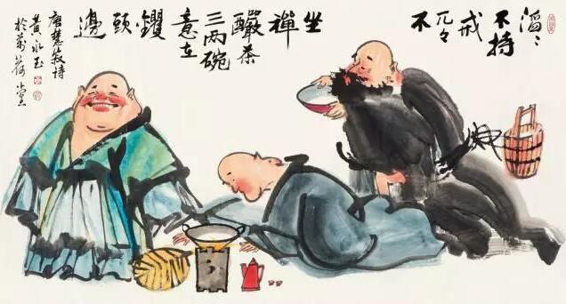 中国国画大师黄永玉的茶酒画欣赏