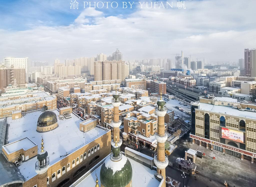 花25元上大巴扎塔顶俯瞰乌鲁木齐,繁华盛景令国人自豪,让外国人惊叹