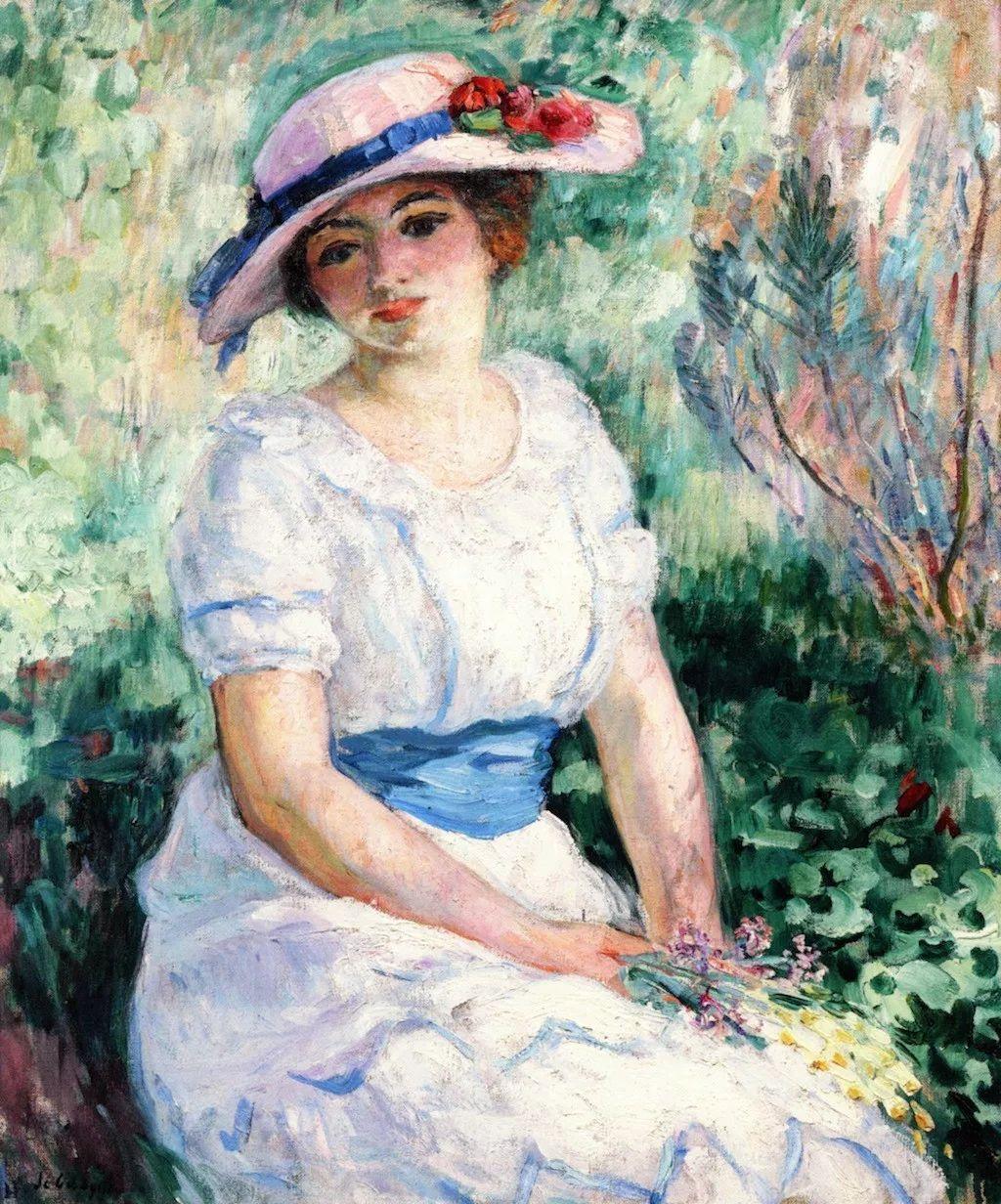 法国后印象派画家亨利·莱巴斯克人物油画作品欣赏