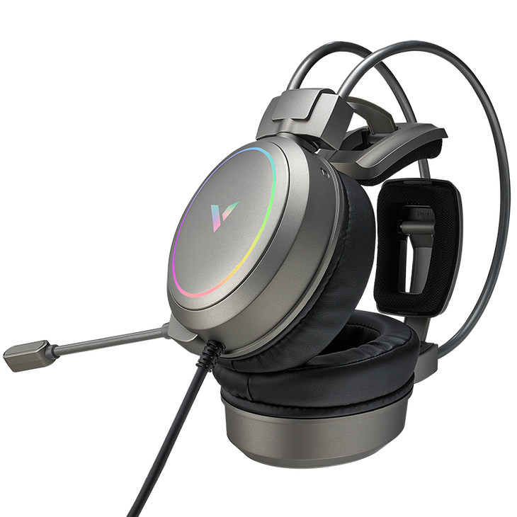 流光银,为战而声,雷柏VH610虚拟7.1声道游戏耳机上市