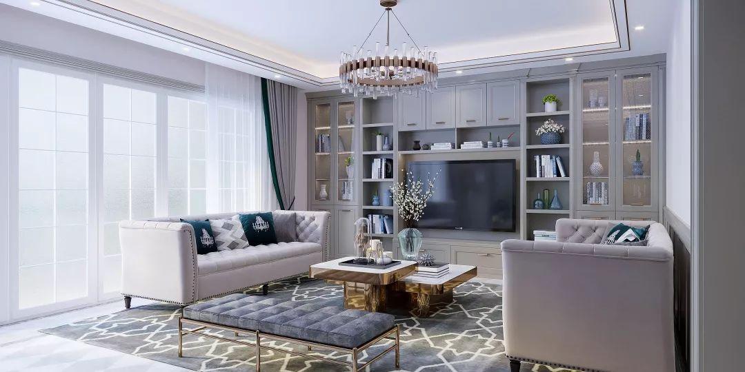 户型:四房两厅  风格:后现代风格  面积:240㎡  门板花色:酷炫银  柜