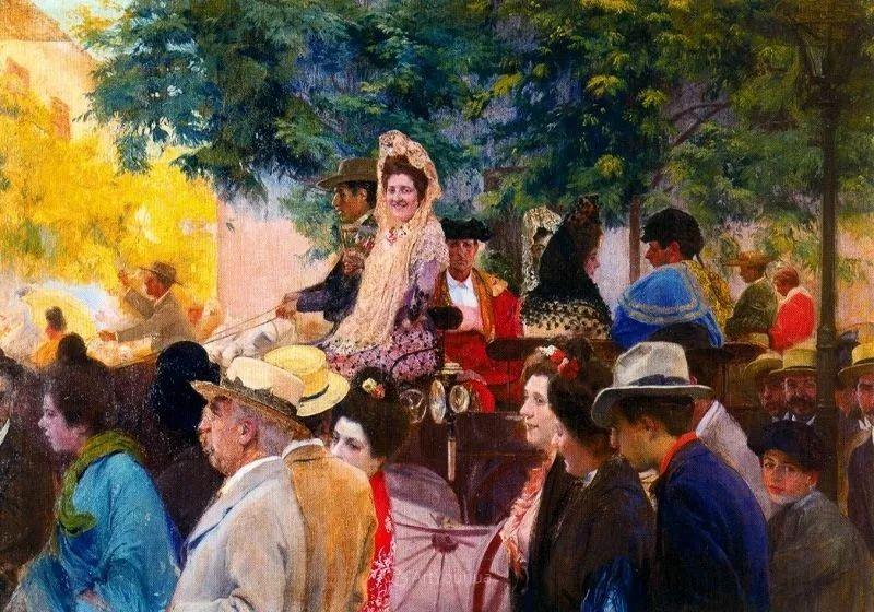 西班牙画家何塞·蒙格里尔·托伦特人物油画作品欣赏
