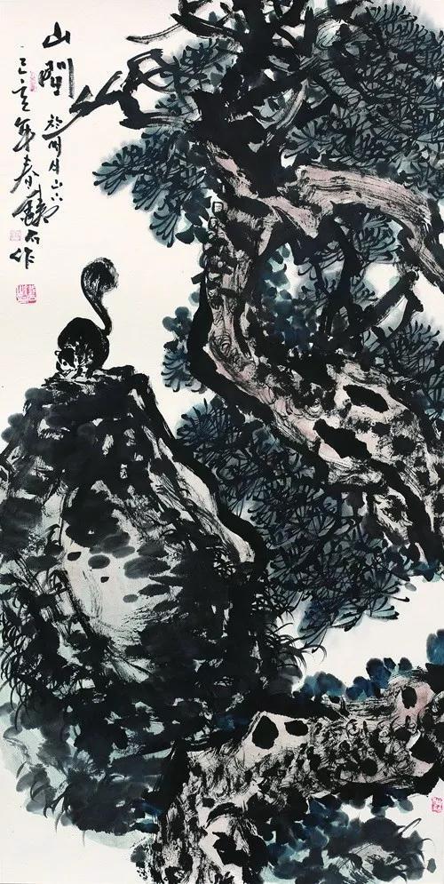当代著名书画家张铁石山水画作品赏析