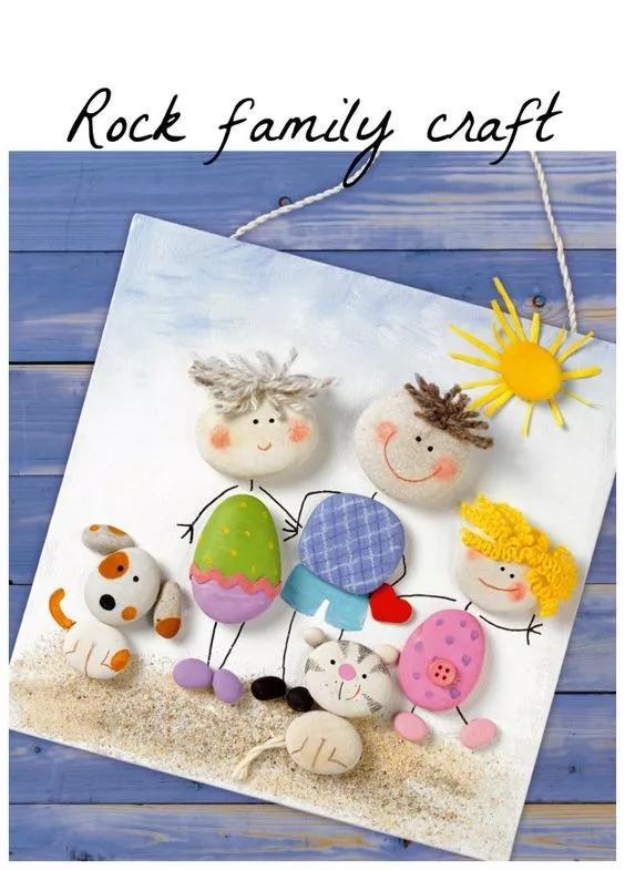 幼儿园石头创意手工创意石头画 师乐汇幼儿教师教育网