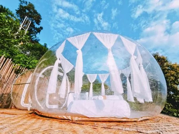 清迈有家能看星星的露天酒店,全透明玻璃屋,你敢住吗?