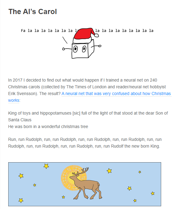 人工智能或许还没有准备好创作圣诞颂歌