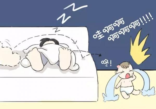 孩子掉下床或从高处摔下,妈妈心急如焚!有8个方法可以学起来!