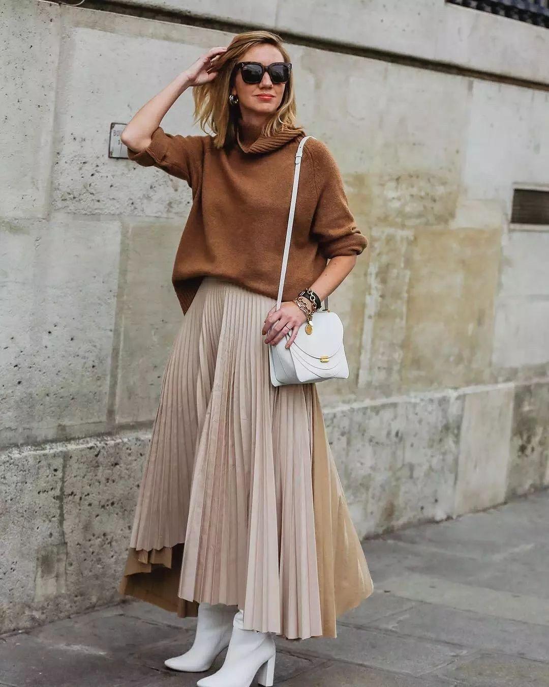冬天≠土胖圆!get到半裙正确的穿搭方法,不仅时髦显瘦还巨巨巨保暖!