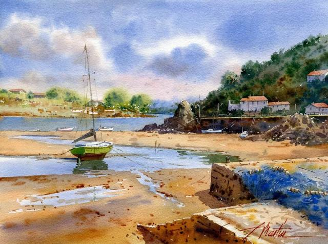 西班牙水彩画家Faustino Martin Gonzalez水彩欣赏