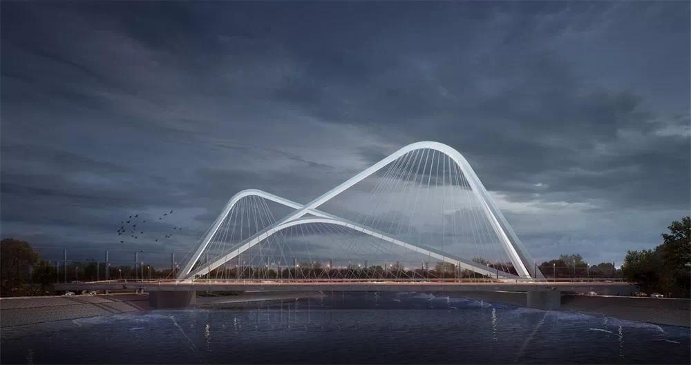 南部新城承天大道跨外秦淮河桥最新进展来了