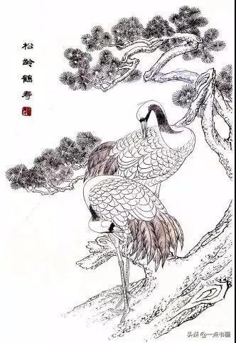 仙鹤的传统工笔画法解析