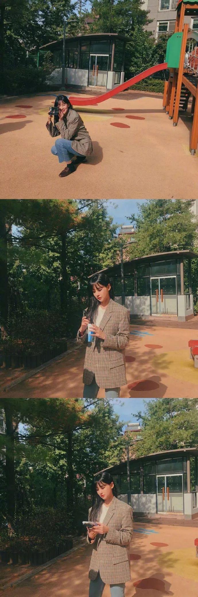 欧尼吴涟序的私服分享,简简单单的韩风搭配看起来很舒服~