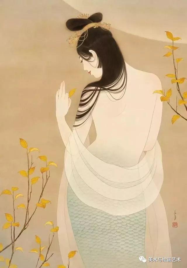 女艺术家是93年的小姐姐,创作极美人体绘画。