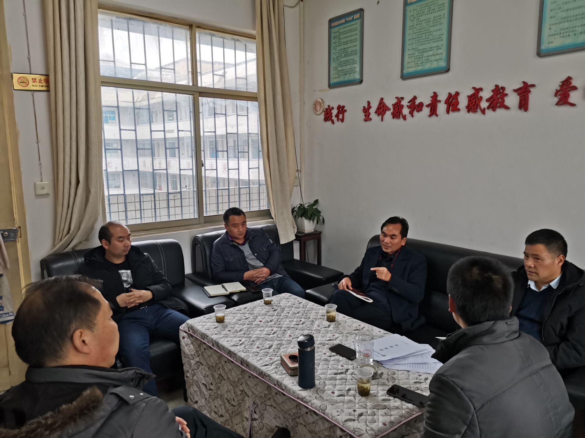 指导明方向 调研送温暖―威宁县教育科技局领导莅临威宁民族中学