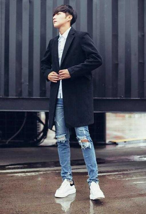 这几款经典的时尚搭配,牛仔裤搭小西装,简直是潮男必备品