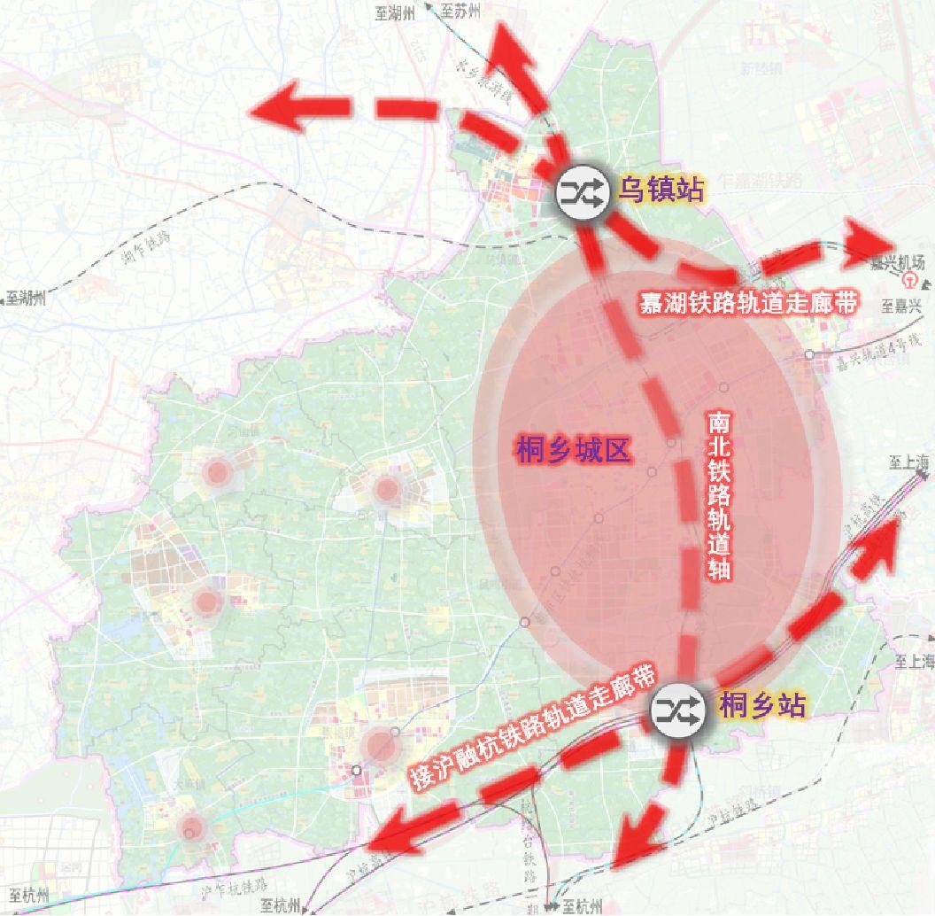 浙江桐乡市区地图全图