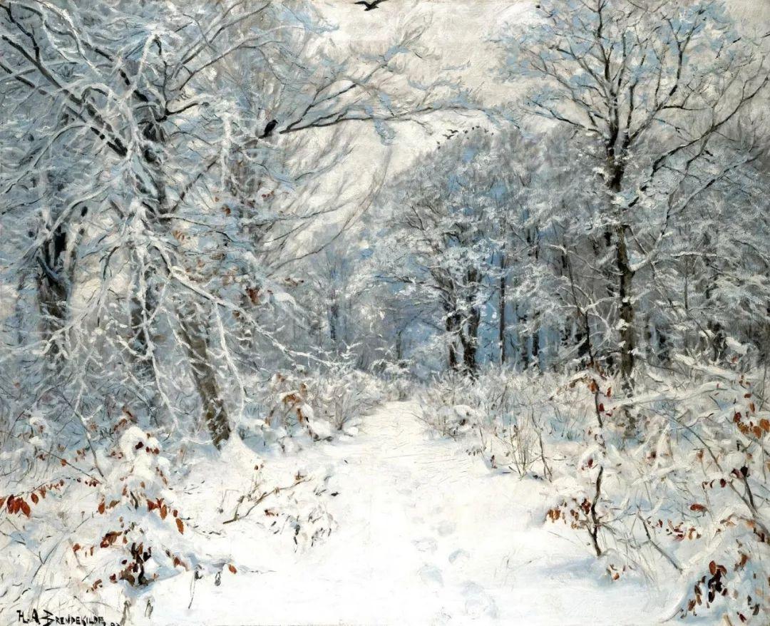 丹麦画家汉斯·安德森·布伦德基尔德人物风景油画作品欣赏