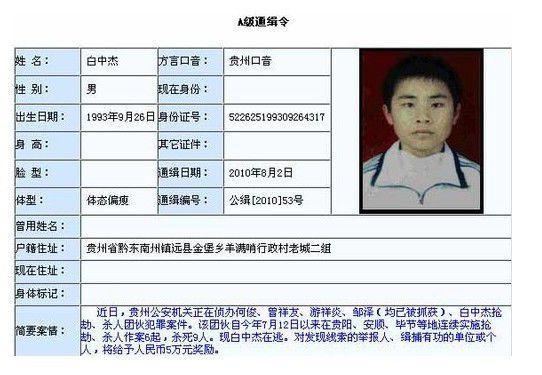 中国大案要案纪实——014.17岁少年白中杰特大杀人事件!