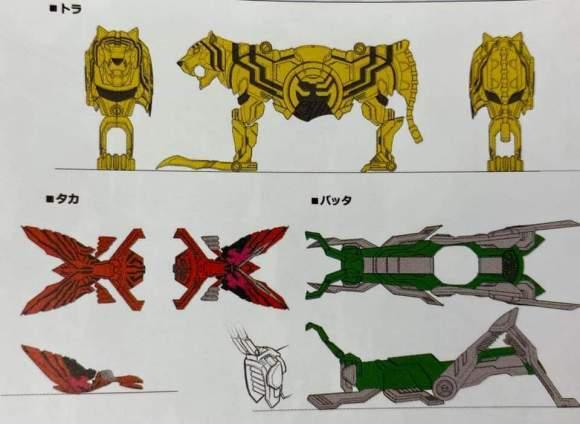 假面骑士时王装甲形态设计图 铠武形态最为呆萌,欧兹形态相当有趣