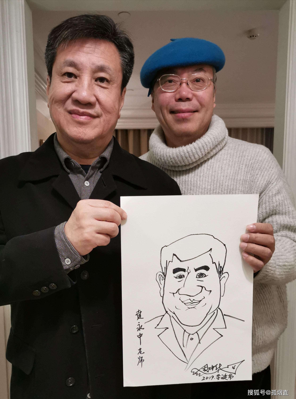 阔别27年后重逢,名画家周中华教授为贲永中老师画像诉衷情