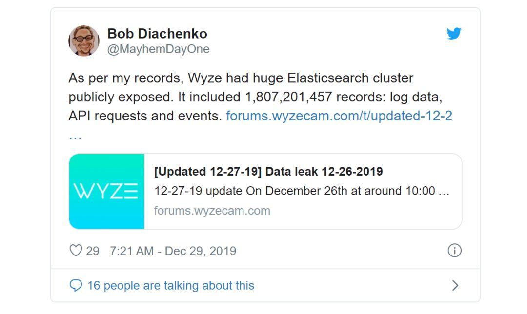 Wyze泄露240万用户数据,澄清与阿里云关系
