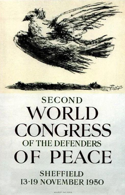 1950 年,他的《飞翔的鸽子》