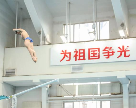 中国跳水队结束队内体能测试 备战选拔赛力求精益求精