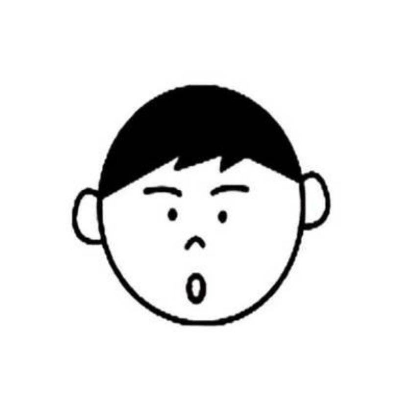 小男孩吃惊表情头像简笔画,小男孩吃惊表情头像的简笔画画法
