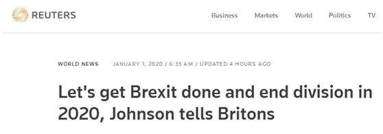 """英国首相约翰逊发表新年贺词:2020,完成""""脱欧"""",结束分裂!_国家"""