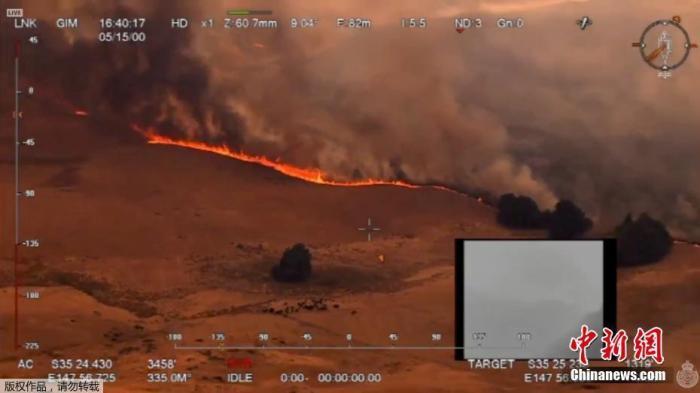 林火围城、染红天空:跨年夜4000人被困澳海滩