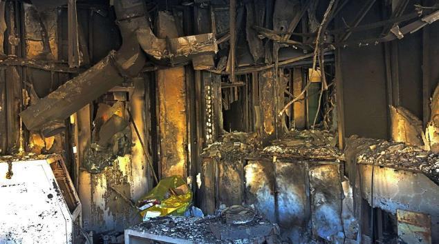 美驻伊拉克大使馆遭冲击后内部曝光:窗户炸裂 家具烧焦