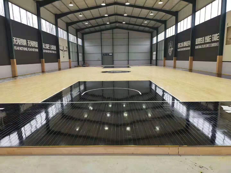 室内篮球场用什么材料减震