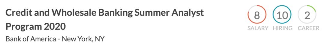 【留美实习】美国银行信贷和批发夏季分析师计划-2020年