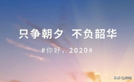 【网络述年】2020:不负韶华,只争朝夕向前跑