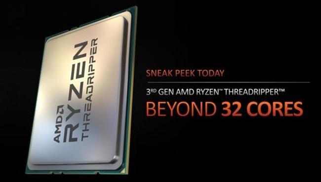 <b>2020最强CPU 传AMD CES发布锐龙Threadripper 3990X 64核处</b>