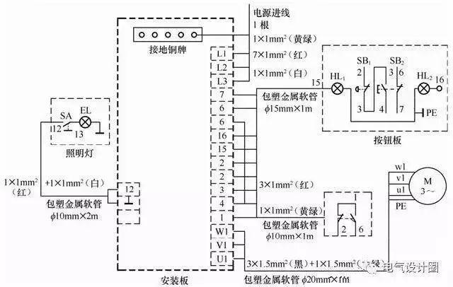 电气照明施工图中常用的图形符号见表1.1.图片