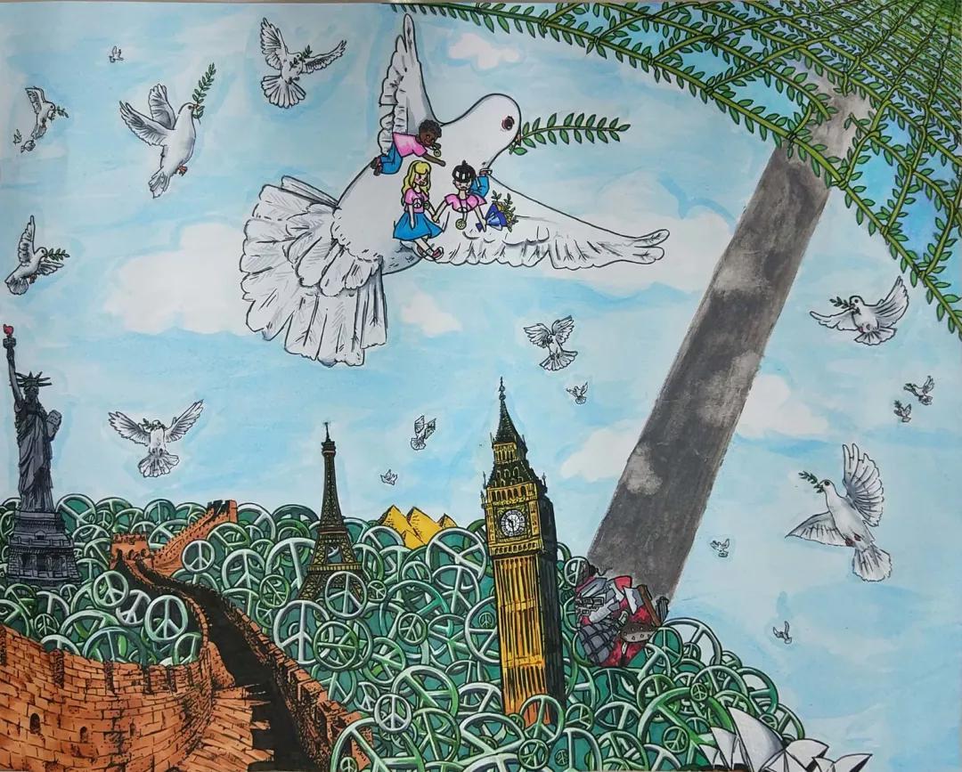 陕西师范大学奥林匹克花园学校学子作品在全国少儿绘画比赛中脱颖而出